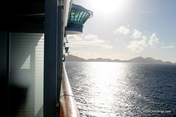 A morning sunrise while cruising into port.