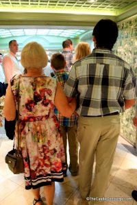 Bonding time with grandparents on a Disney cruise.