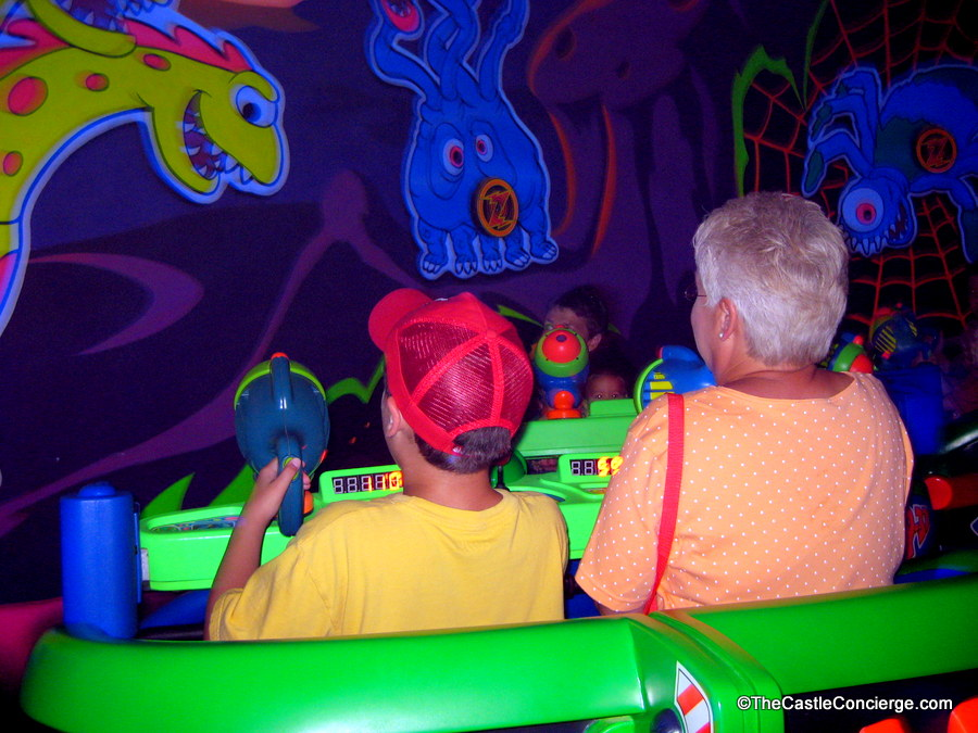 Buzz Lightyear is a fun ride to share with a grandparent.