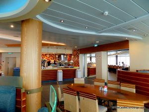 The buffet restaurant on Royal Caribbean is called the Windjammer.