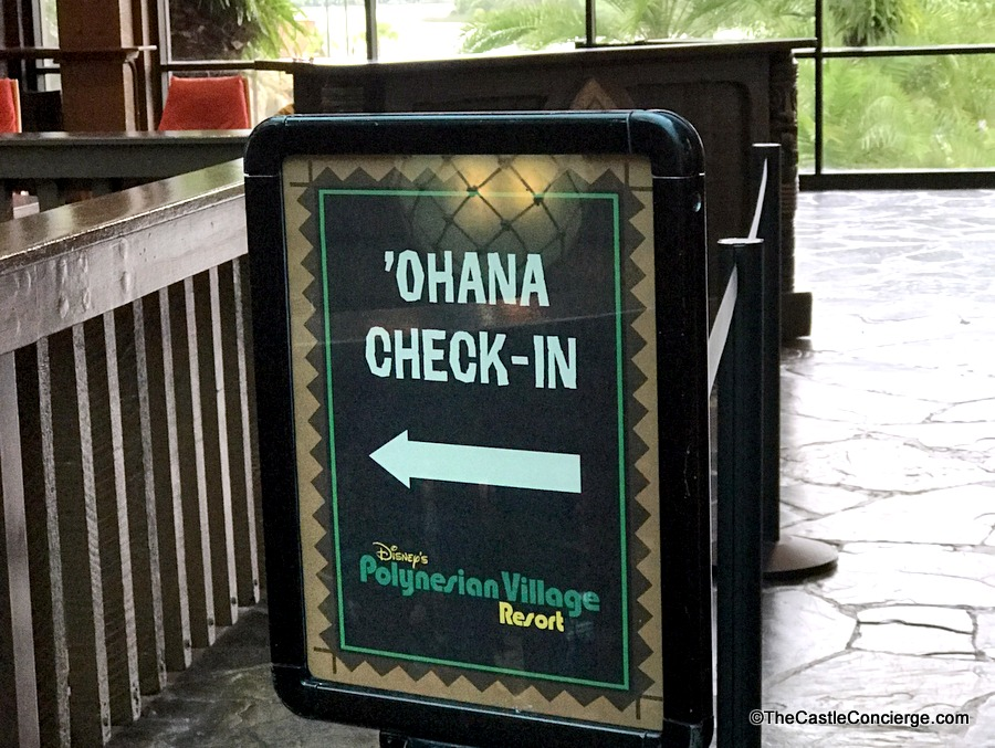 'Ohana Check In Polynesian Village Resort WDW