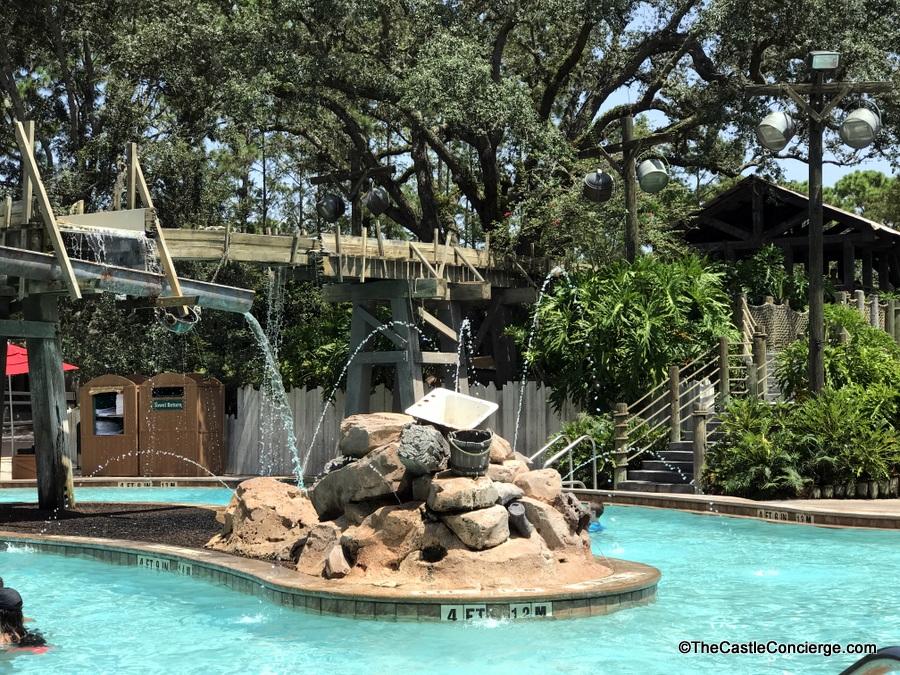 The pool on Ol' Man Island at Port Orleans Riverside.
