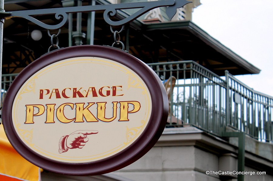 Utilzie Package Pick Up at the WDW Theme Parks