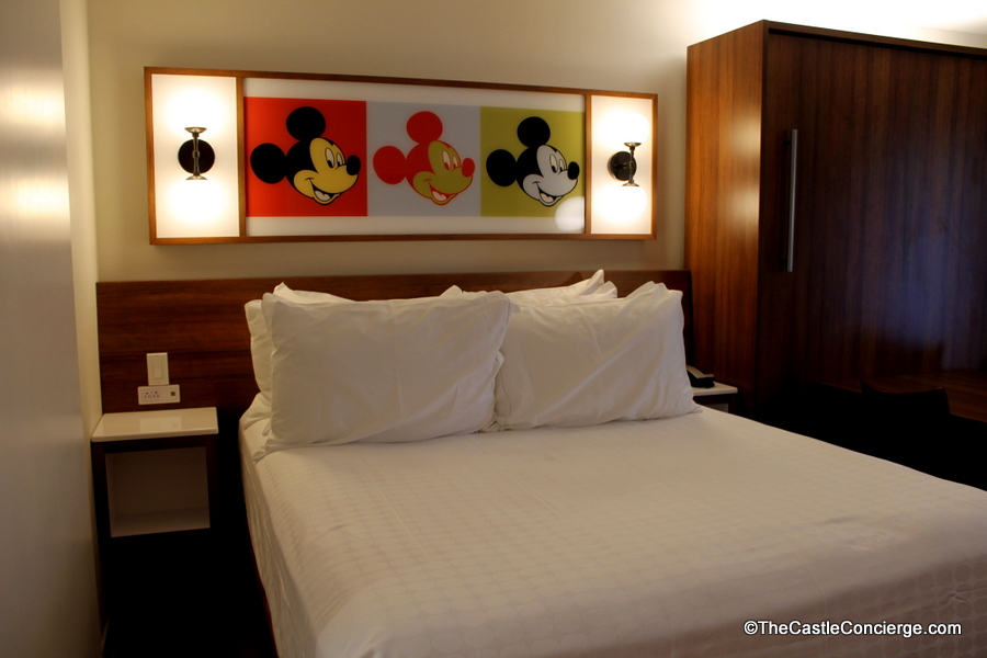 Queen Bed at Pop Century in Walt Disney World.
