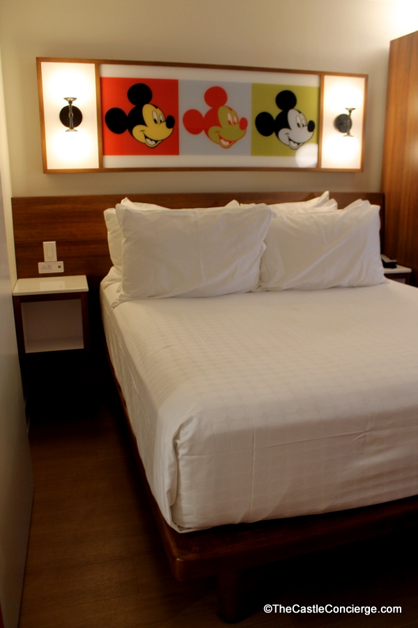 Mickey Mouse lighting in refurbished room at Pop Century.
