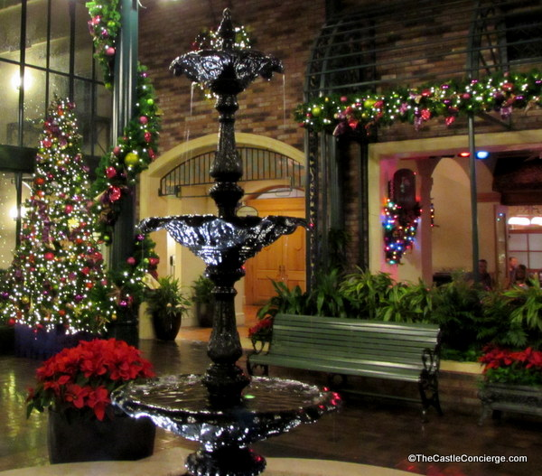 During the holidays, Port Orleans French Quarter adds gorgeous decor.