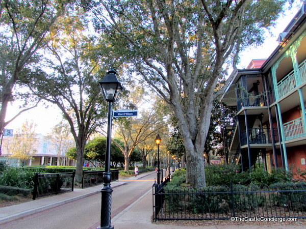 Port Orleans French Quarter. Cobblestone Walkways. WDW