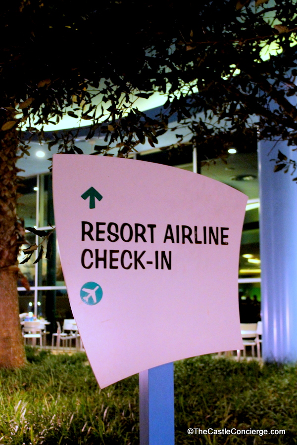 Resort Airline Check In Walt Disney World Resort