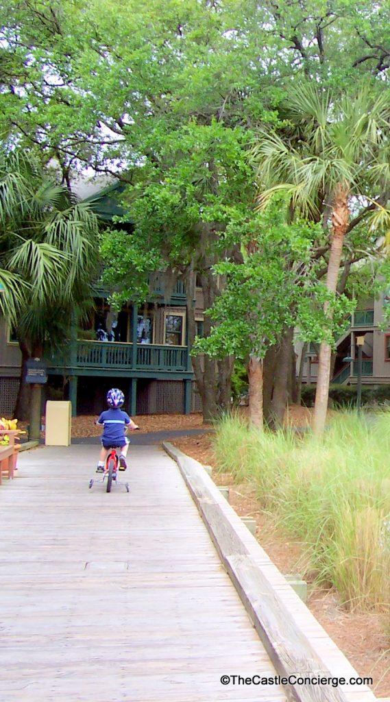 Bike riding at Disney's Hilton Head Island Resort.