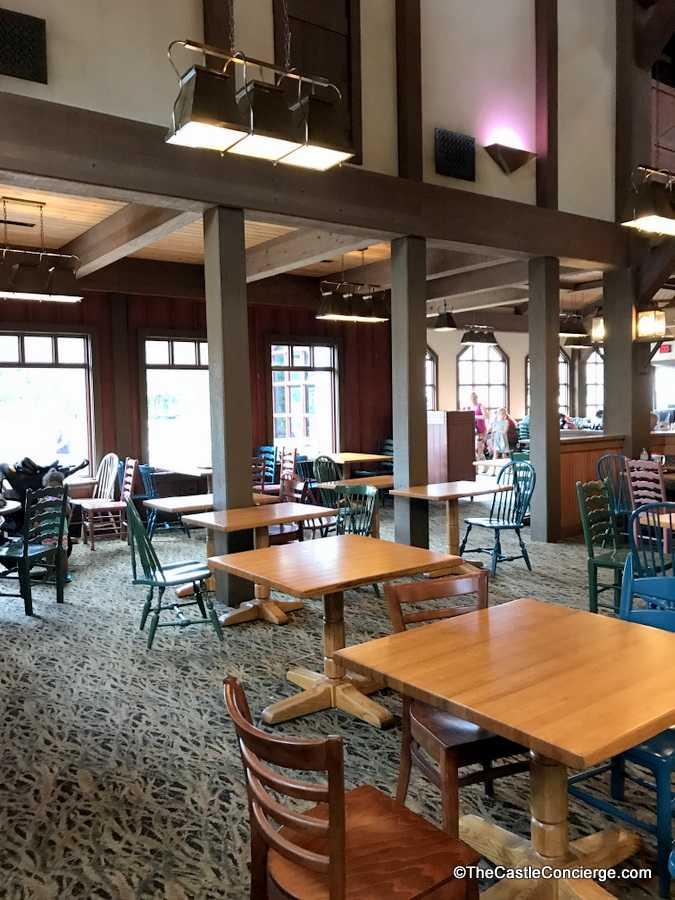 The Riverside Mill Food Court at Disney's Port Orleans Riverside resort.