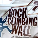 The Rock Climbing Wall on Oasis is fun for all ages.
