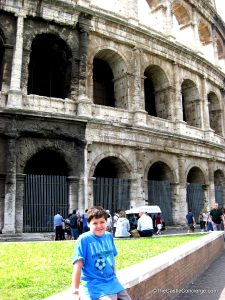 Touring Colosseum in Rome, Italy.