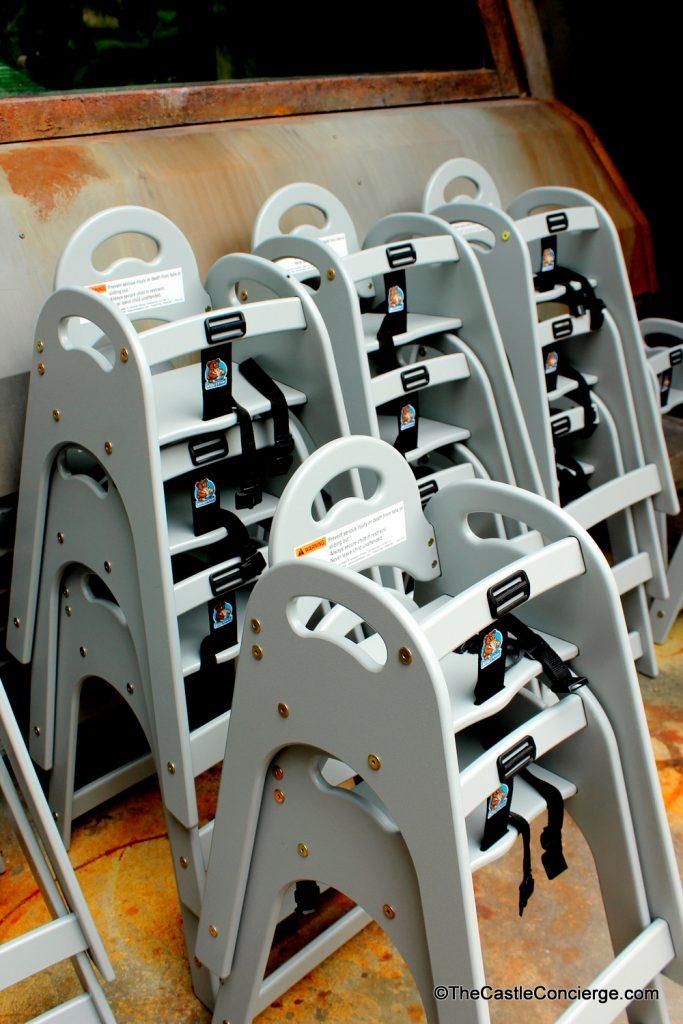 High Chairs at Satu'li Canteen.