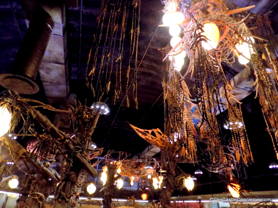 Na'vi artifacts decorate Satu'li Canteen at Pandora - The World of Avatar.
