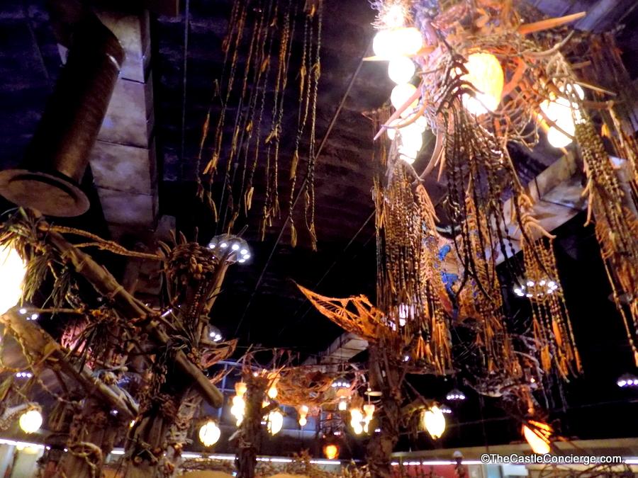 Na'vi artifacts decorate Satu'li Canteen at Pandora - The World of Avatar.