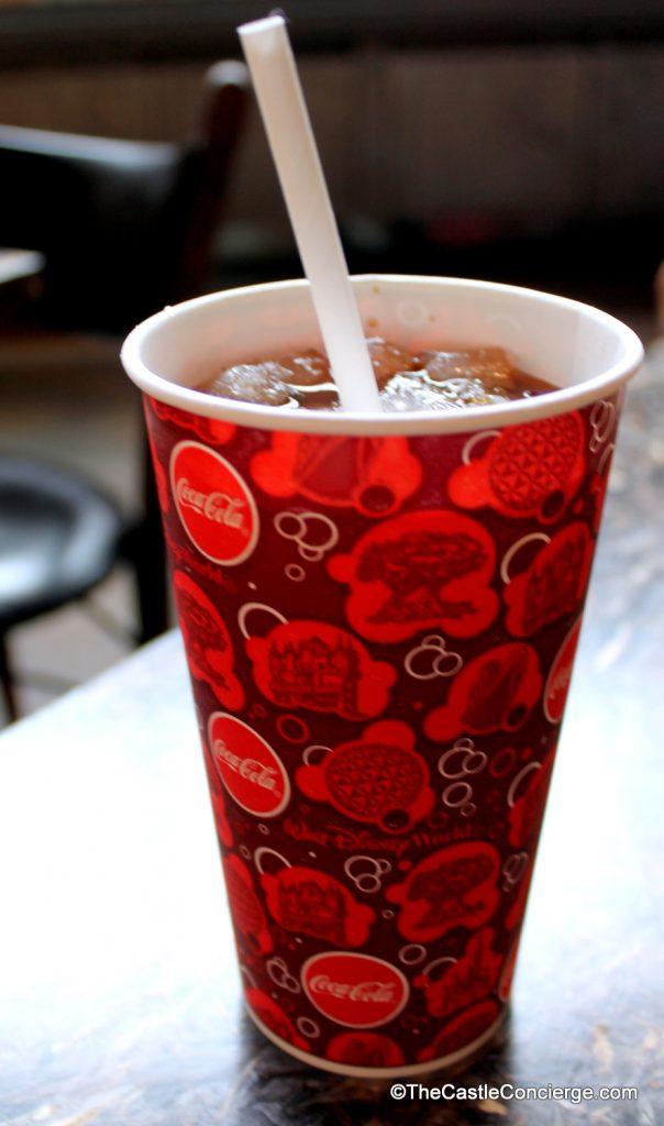 Diet Coke fountain beverage at Satu'li Canteen.