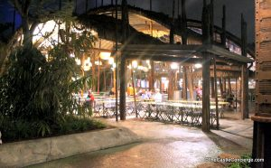 Outdoor seating at Satu'li Canteen.