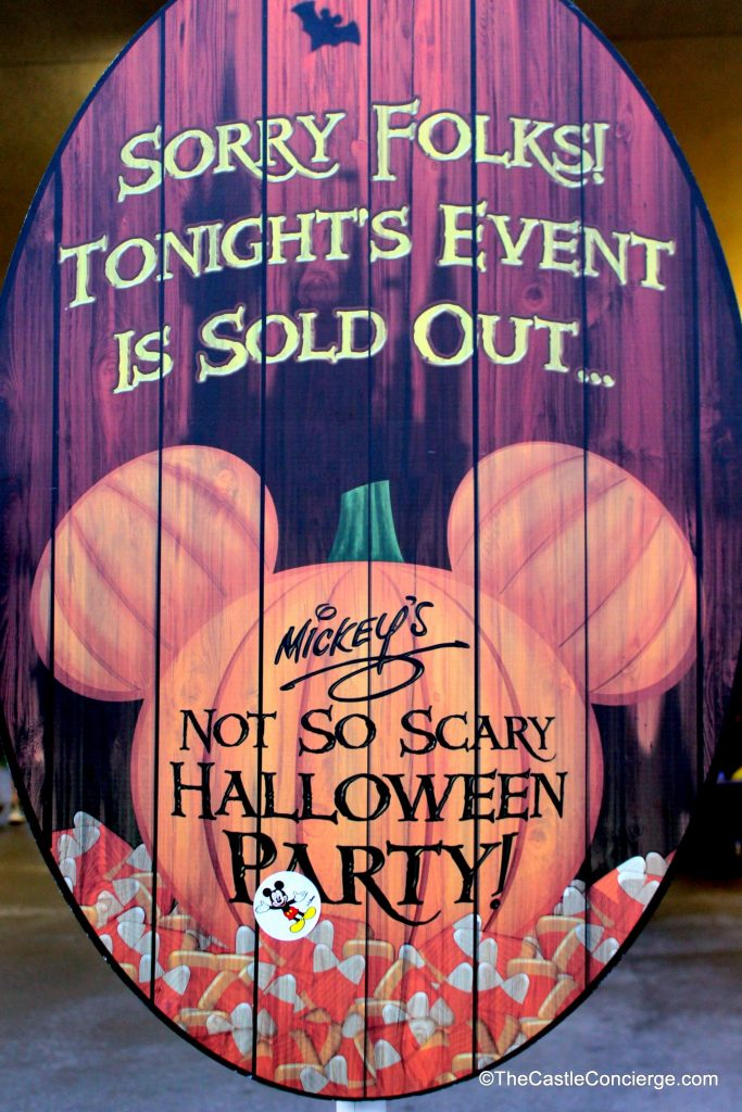 Sold Out Mickey's Not-So-Scary Halloween Party