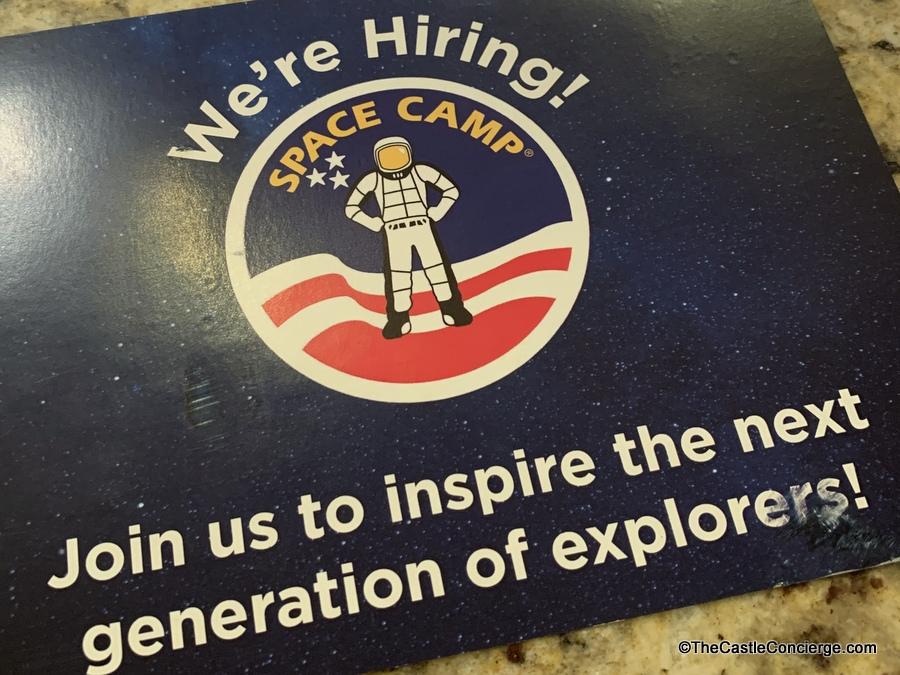 Space Camp Hiring Postcard
