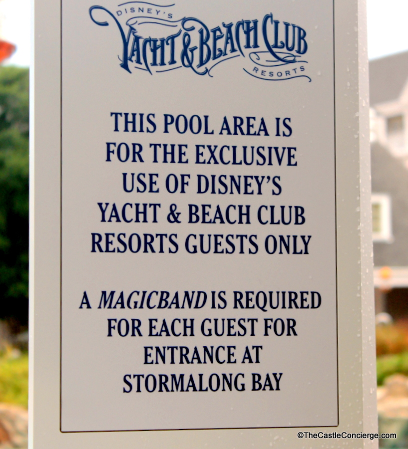 MagicBand required for access to Stormalong Bay