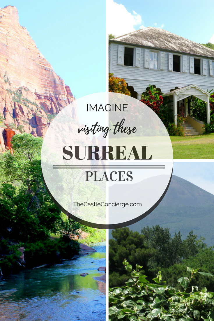 Imagine visiting these Surreal Places at Zion National Park, United States Virgin Islands, and Pompeii, Italy. Part one in a series of amazing travel destinations