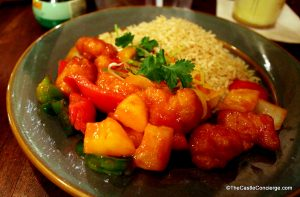 Sweet and Sour Chicken Yak and Yeti Restaurant