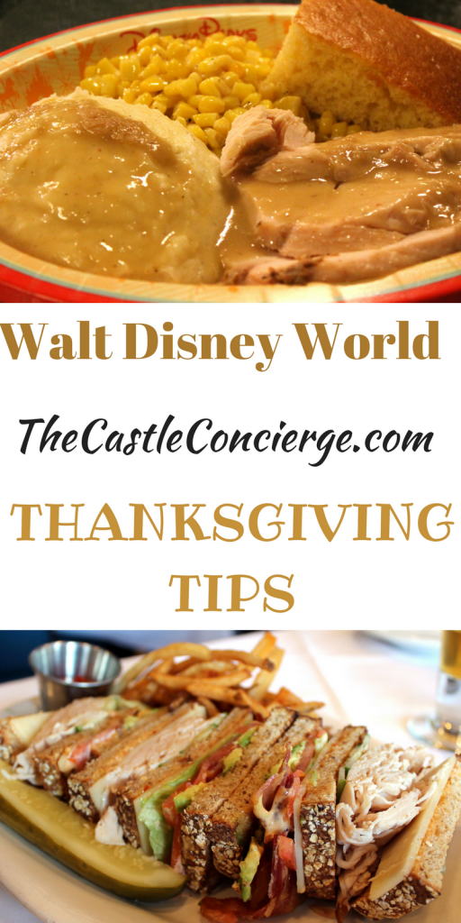 Thanksgiving Tips Walt Disney World