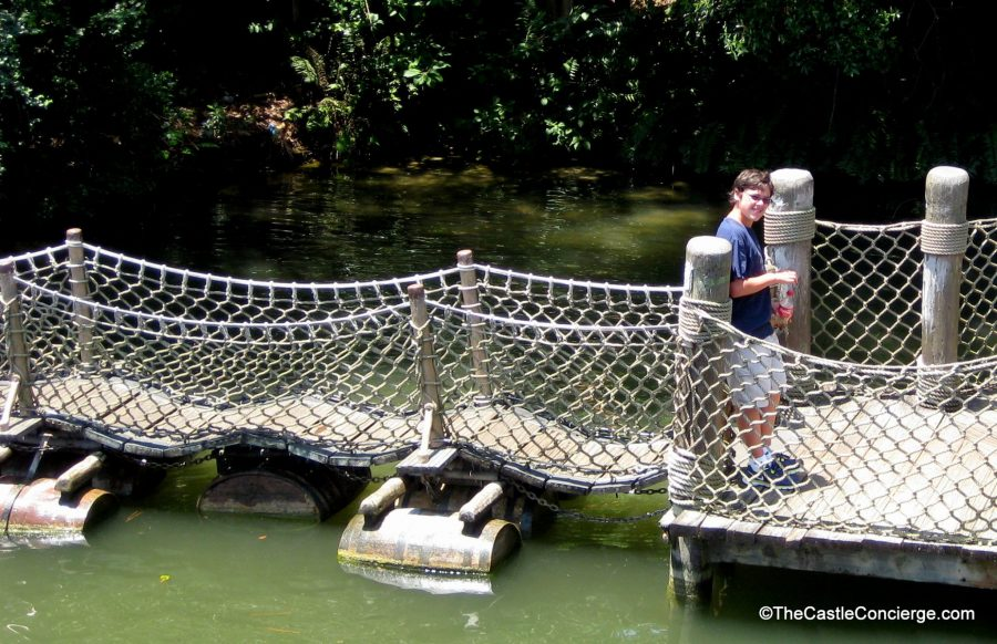 Barrel Bridge on Tom Sawyer Island