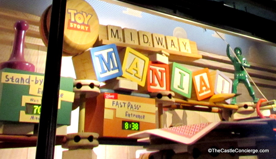 Toy Story Midway Mania FastPass and Standby Entrances in Disney's Hollywood Studios.