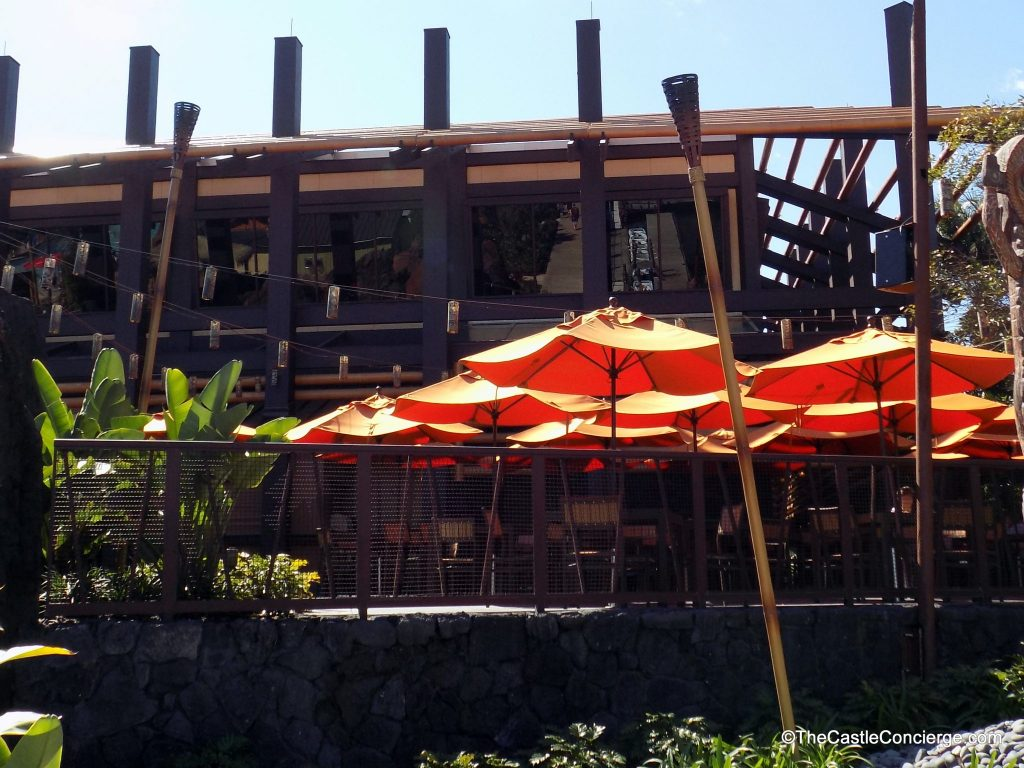 Trader Sam's Grog Grotto outdoor patio