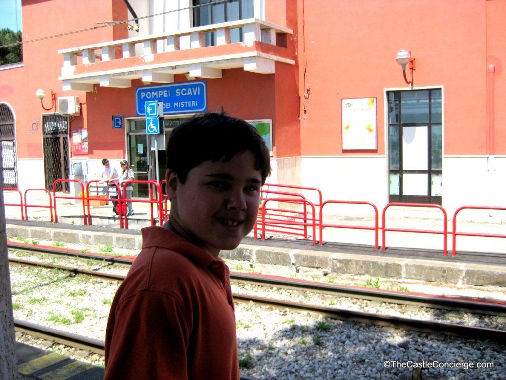 Take a train to see a bucket list place -- like Pompeii!