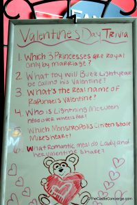 Valentine's Day Trivia at Fantasia Market in Disney's Contemporary Resort WDW