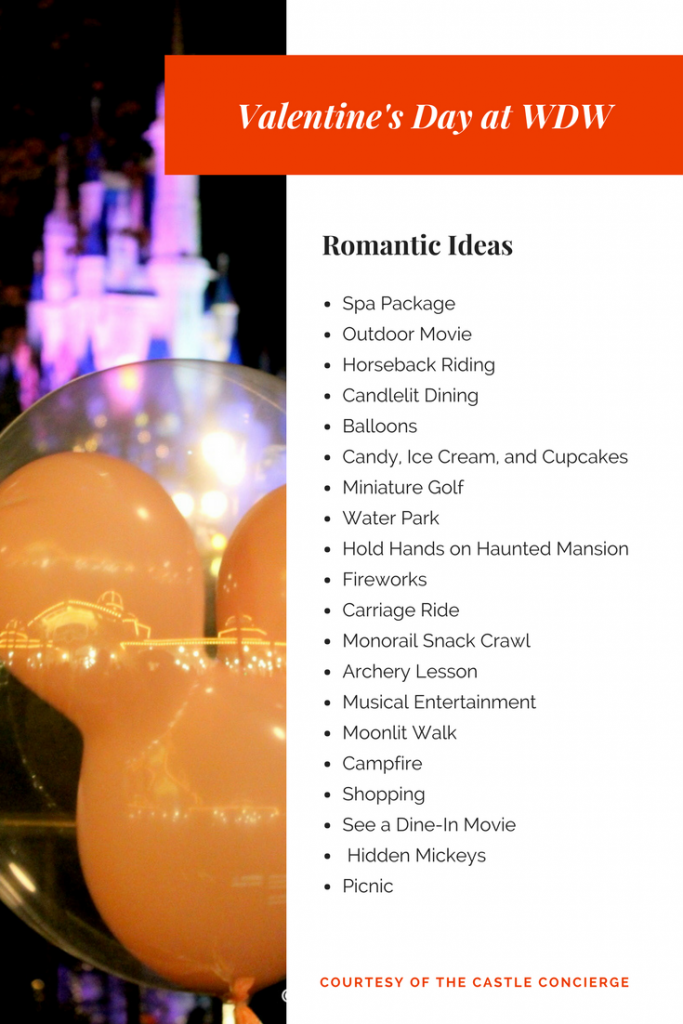 Date Ideas for Valentine's Day at Walt Disney World