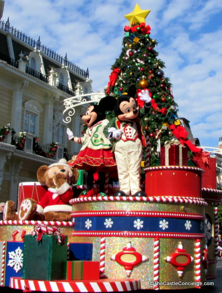 Mickey's Very Merry Christmastime Parade at Walt Disney World