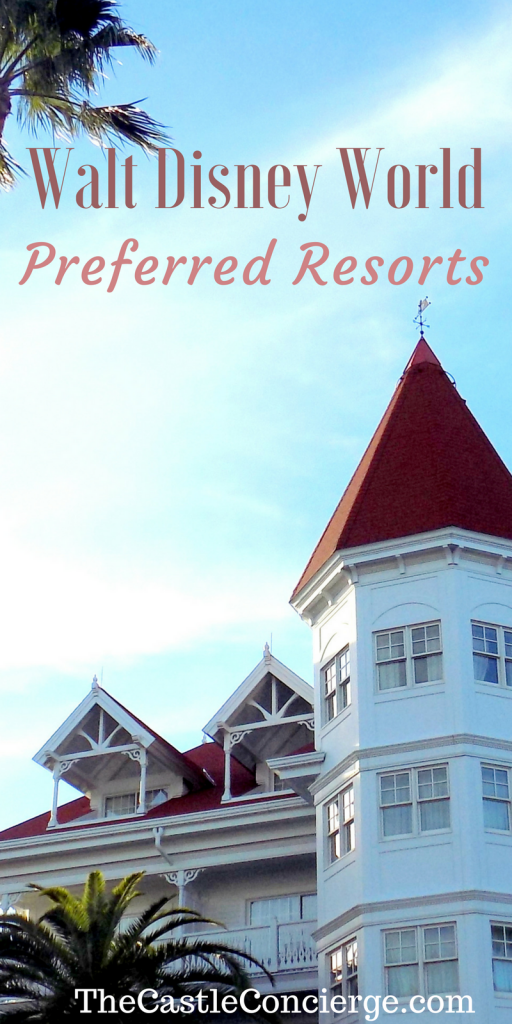 Walt Disney World Preferred Resorts