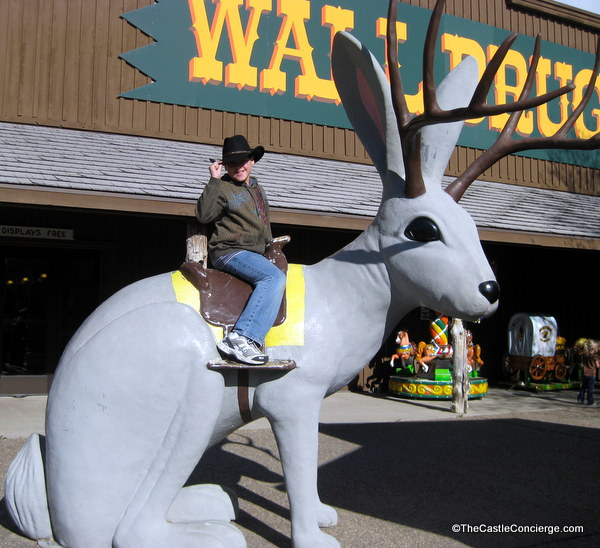 Stop at Wall Drug Store for roadside fun in Wall, South Dakota.