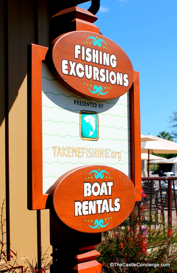 Fishing Excursions are a fun activity with grandparents at Walt Disney World.