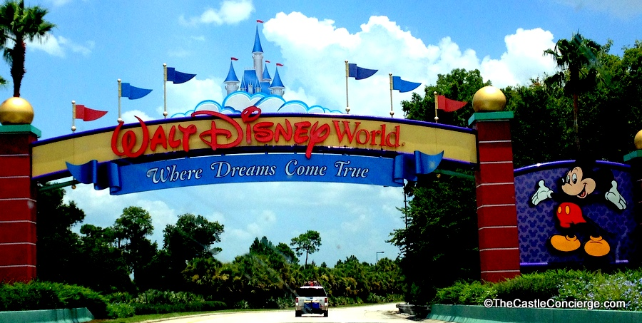 Walt Disney World Welcome Sign.