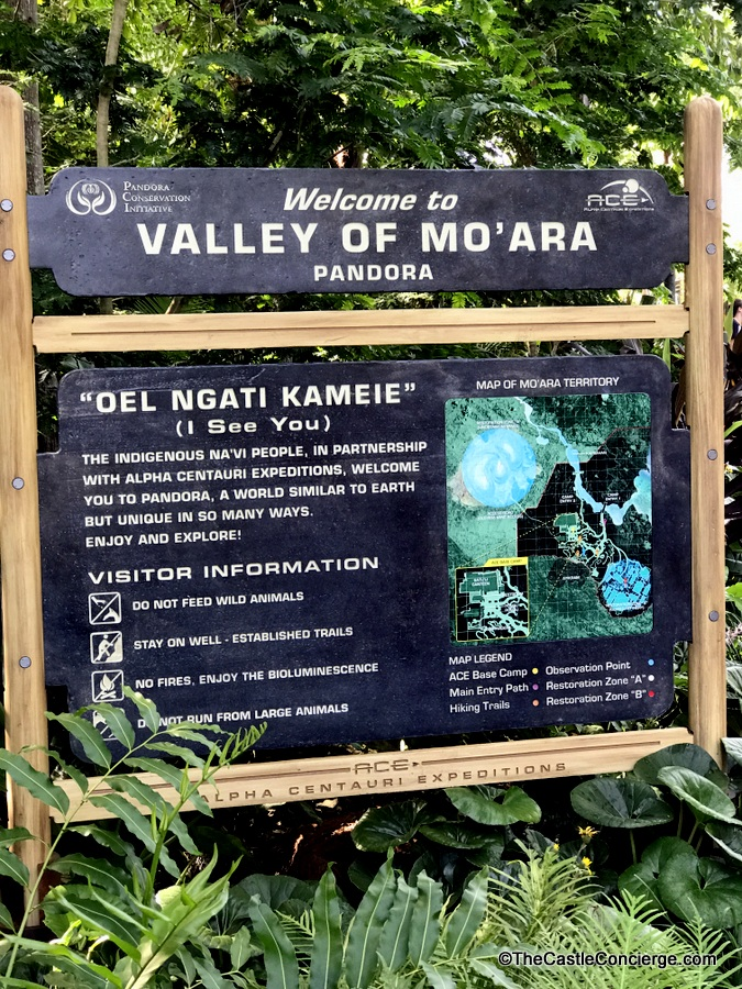 Welcome to the Valley of Mo'ara Sign Disney's Animal Kingdom