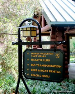 Wilderness Lodge Resort Sign at WDW