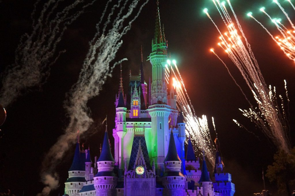 Wishes Fireworks over Cinderella Castle