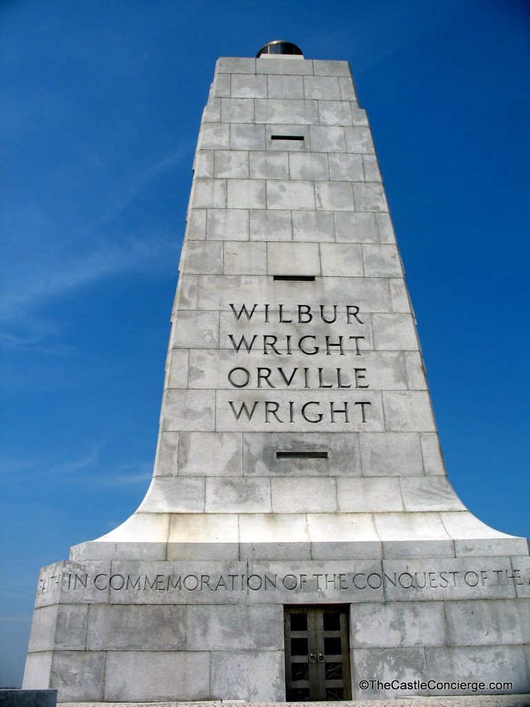 Wright Brothers National Memorial at Kitty Hawk in North Carolina