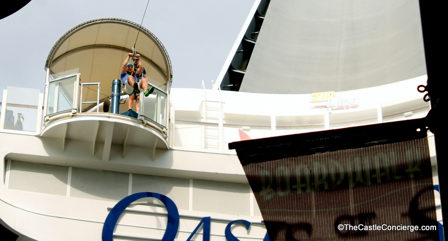 Royal Caribbean ships offer fun activities like ziplining.