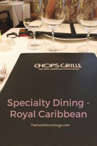 Chops Grille, Royal Caribbean.