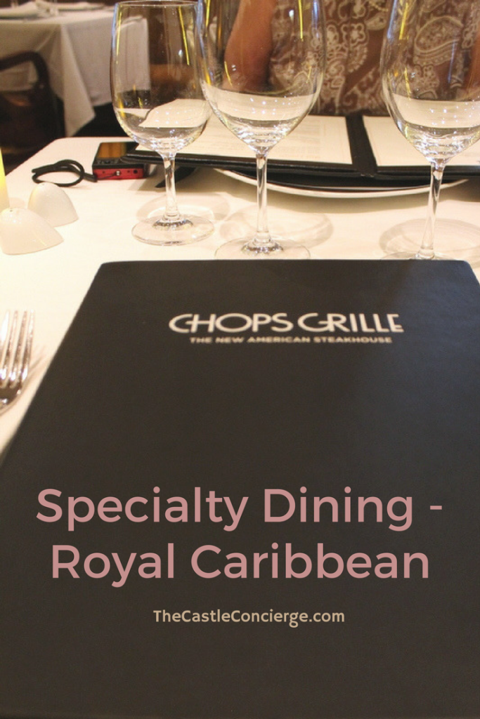 Chops Grille, Royal Caribbean.