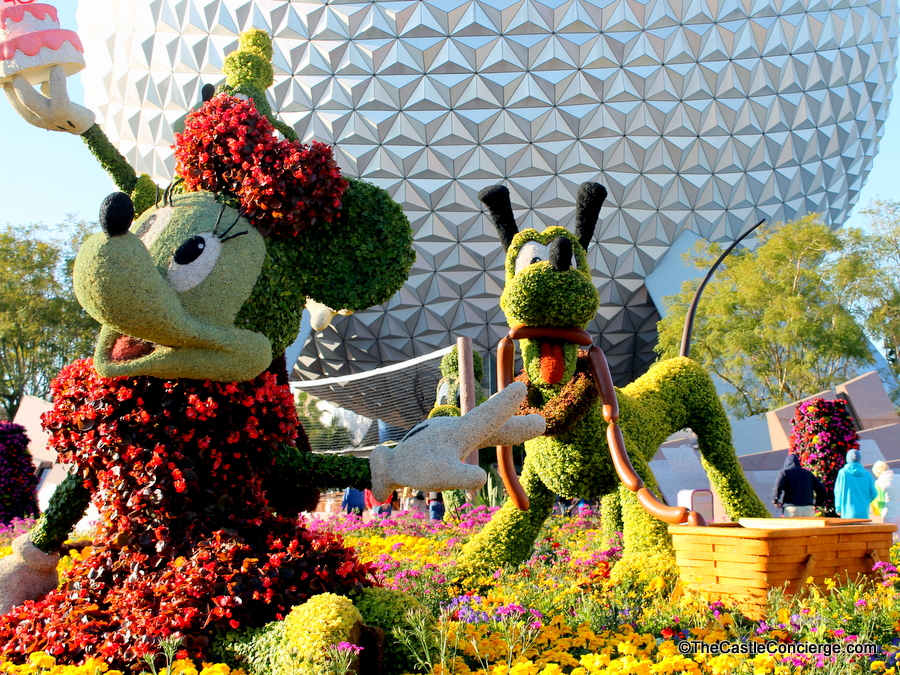 Disney topiaries at Epcot's Flower and Garden Festival