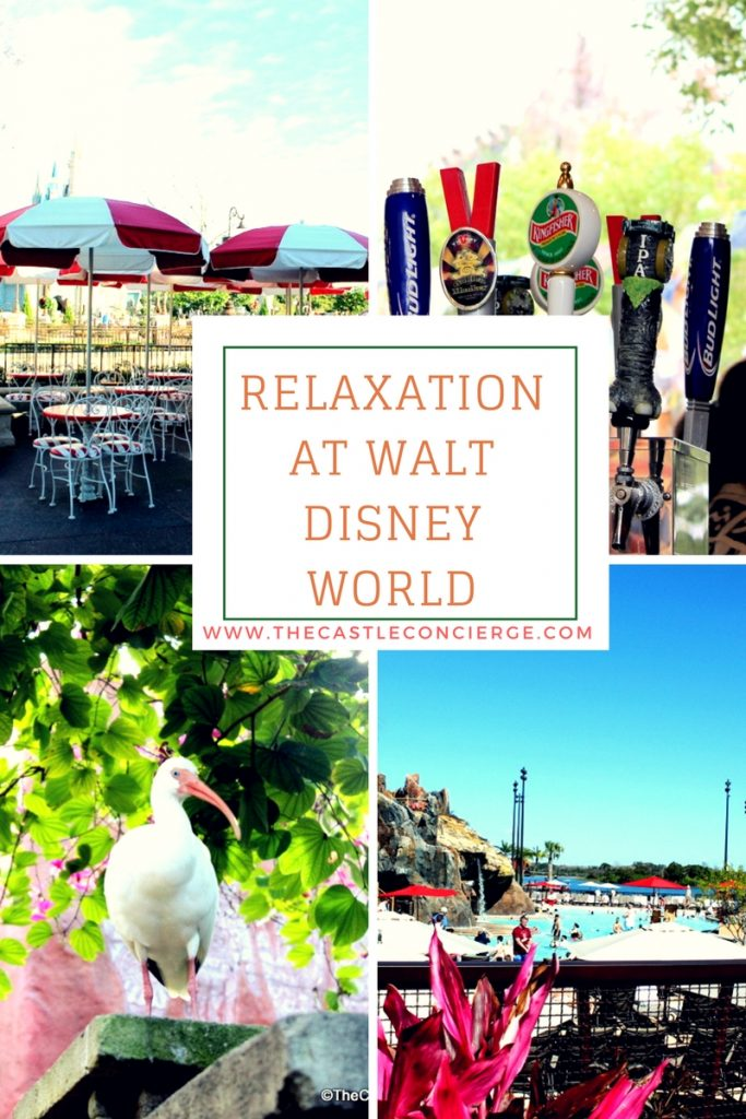 Relaxation at Walt Disney World. Ideas for a relaxing vacation.