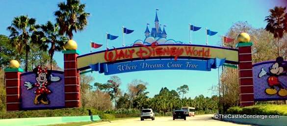 Walt Disney World Entrance Sign on Disney Arrival Day
